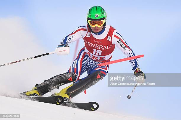 Alexander Khoroshilov of Russia competes during the Audi FIS Alpine Ski World Cup Men's Slalom on December 14 2014 in Are Sweden