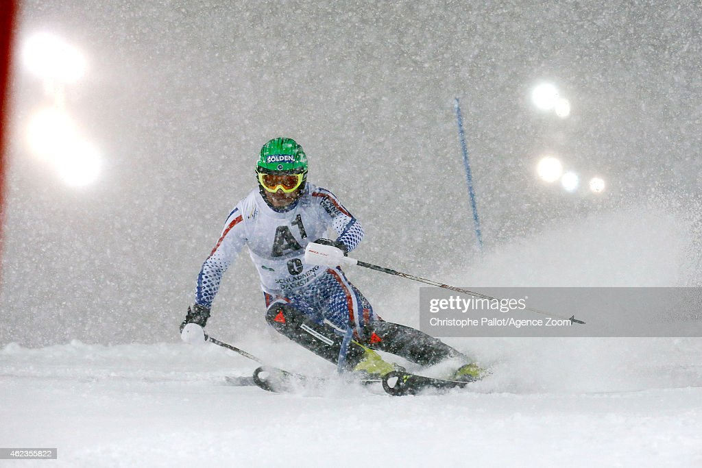 Alexander Khoroshilov of Russia competes during the Audi FIS Alpine Ski World Cup Men's Slalom on January 27 2015 in Schladming Austria