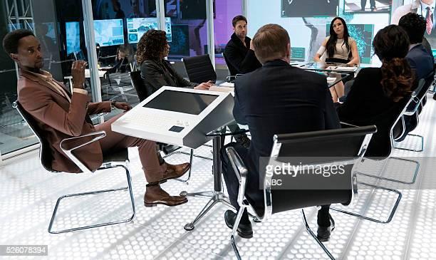 THE BLACKLIST 'Alexander Kirk' Episode 322 Pictured Edi Gathegi as Mr Solomon Ryan Eggold as Tom Keen Famke Janssen as Susan 'Scottie' Hargrave