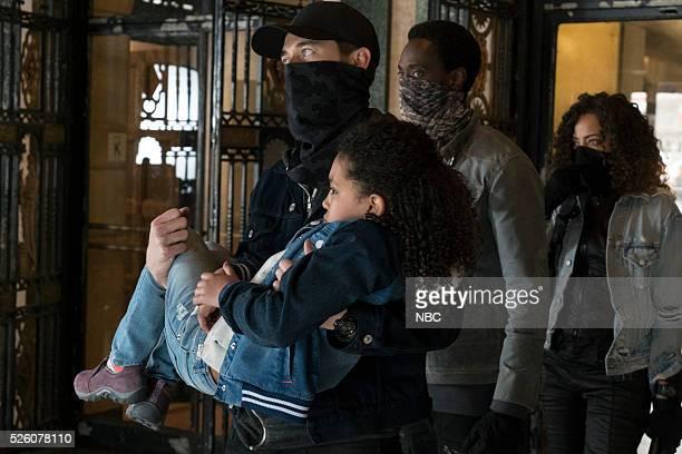 THE BLACKLIST 'Alexander Kirk' Episode 322 Pictured Ryan Eggold as Tom Keen Anais and Mirabelle Lee as Sadie Loescher Edi Gathegi as Mr Solomon Tawny...