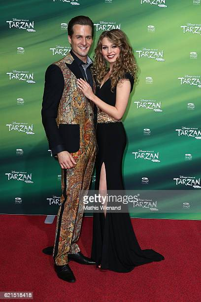 Alexander Klaws alias Tarzan and Tessa Sunniva van Tol alias Jane attend 'Tarzan' Musical Premiere on November 6 2016 in Oberhausen Germany