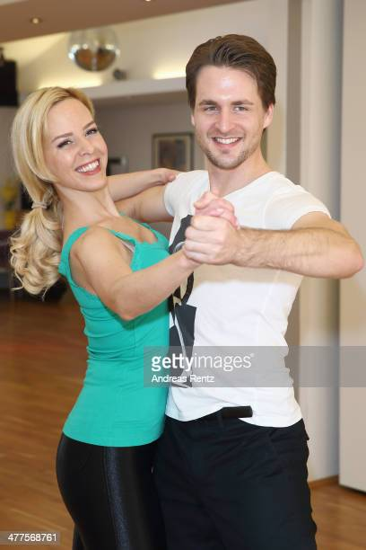 Alexander Klaws and Isabel Edvardsson pose at a photo call for the television competition 'Let's Dance' on March 10 2014 in Muenster Germany On March...