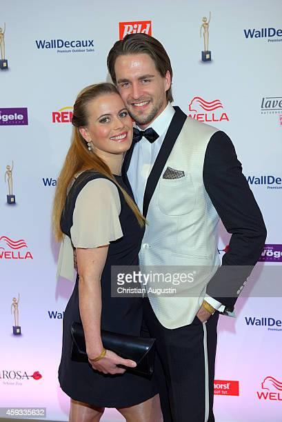 Alexander Klaws and Nadja Scheiwiller attend the 'Goldene Bild Der Frau' Award 2014 at TUI Operettenhaus on November 20 2014 in Hamburg Germany