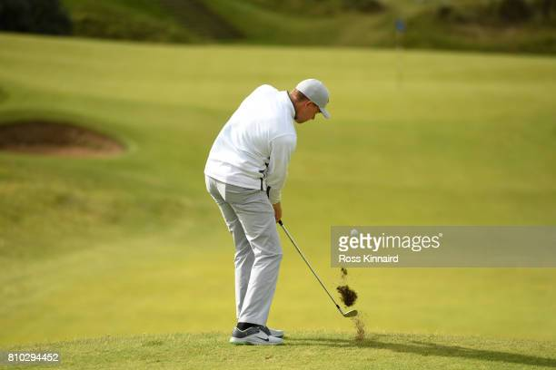 Alexander Knappe of Germany hits his second shot on the 8th hole during day two of the Dubai Duty Free Irish Open at Portstewart Golf Club on July 7...