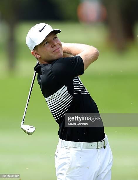 Alexander Knappe of Germany in action during day one of The BMW South African Open Championship at Glendower Golf Club on January 12 2017 in...