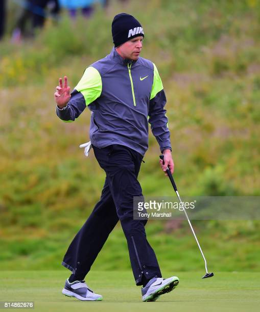 Alexander Knappe of Germany on the 4th green during Day Three of the AAM Scottish Open at Dundonald Links Golf Course on July 15 2017 in Troon...