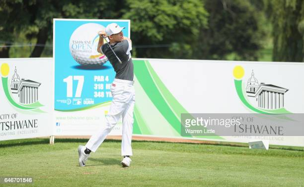 Alexander Knappe of Germany plays a practice round ahead of the Tshwane Open at Pretoria Country Club on March 1 2017 in Pretoria South Africa