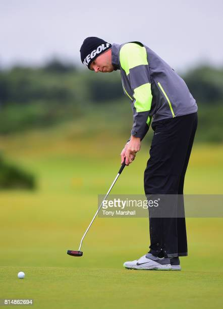 Alexander Knappe of Germany putts on the 3rd green during Day Three of the AAM Scottish Open at Dundonald Links Golf Course on July 15 2017 in Troon...