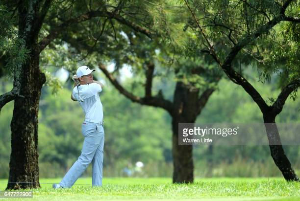 Alexander Knappe of Germay plays his second shot on the 10th during day three of the Tshwane Open at Pretoria Country Club on March 4 2017 in...