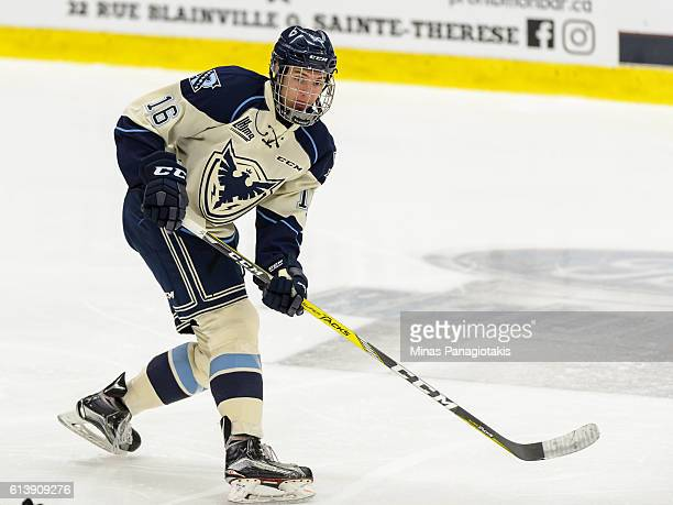 Alexander Krief of the Sherbrooke Phoenix skates during the QMJHL game against the BlainvilleBoisbriand Armada at the Centre d'Excellence Sports...