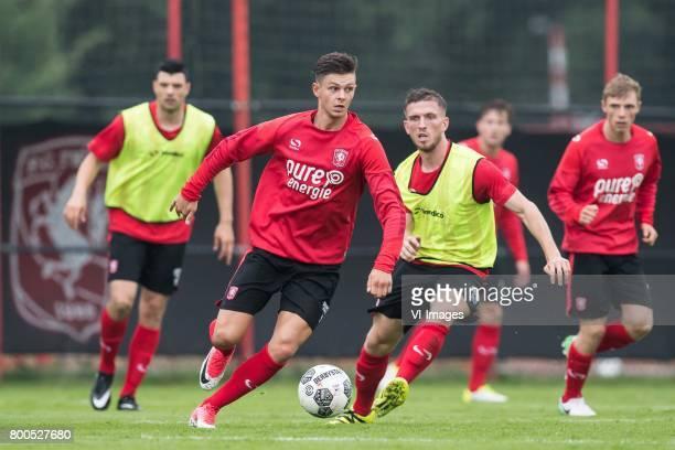 Alexander Lankart of FC Twente Jelle van der Heijden of FC Twenteduring a training session at Trainingscentrum Hengelo on June 24 2017 in Hengelo The...