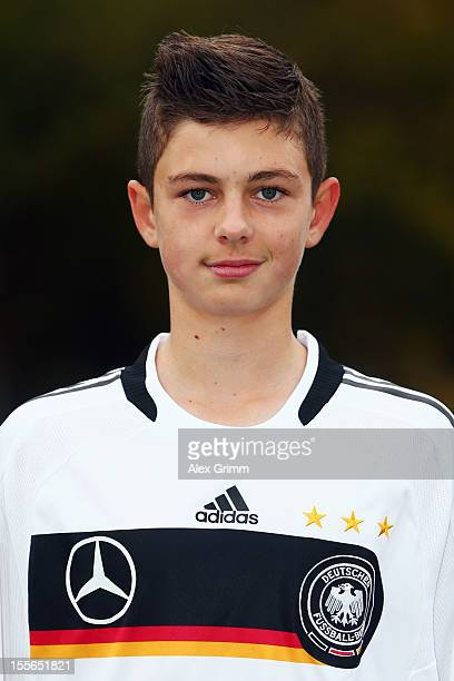 Alexander Laukart during the Germany U15 team presentation at Bruchwegstadion on November 6 2012 in Mainz Germany
