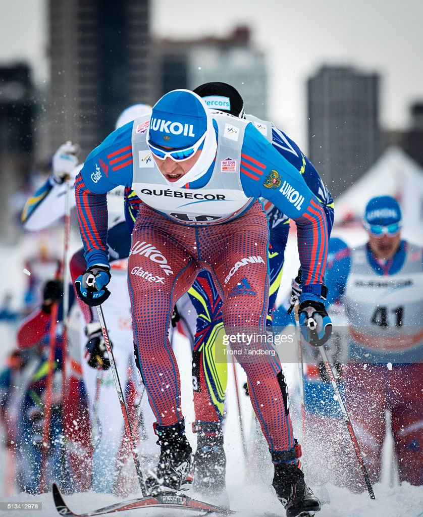 <a gi-track='captionPersonalityLinkClicked' href=/galleries/search?phrase=Alexander+Legkov&family=editorial&specificpeople=4037875 ng-click='$event.stopPropagation()'>Alexander Legkov</a> of Russia during Cross Country Men 17.5 km Mass Start Classic on March 02, 2016 in Montreal, Canada .