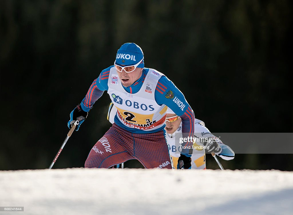 <a gi-track='captionPersonalityLinkClicked' href=/galleries/search?phrase=Alexander+Legkov&family=editorial&specificpeople=4037875 ng-click='$event.stopPropagation()'>Alexander Legkov</a> of Russia during FIS Cross Country Relay Classic/ Free at Birkebeineren Stadion on Desember 06, 2015 in Lillehammer, Norway.