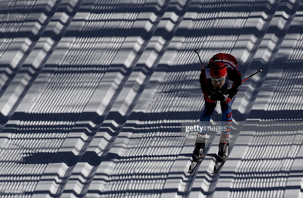 <a gi-track='captionPersonalityLinkClicked' href=/galleries/search?phrase=Alexander+Legkov&family=editorial&specificpeople=4037875 ng-click='$event.stopPropagation()'>Alexander Legkov</a> of Russia trains for the Cross-Country ahead of the Sochi 2014 Winter Olympics at the Laura Cross-Country Ski and Biathlon Center on February 7, 2014 in Sochi, Russia.