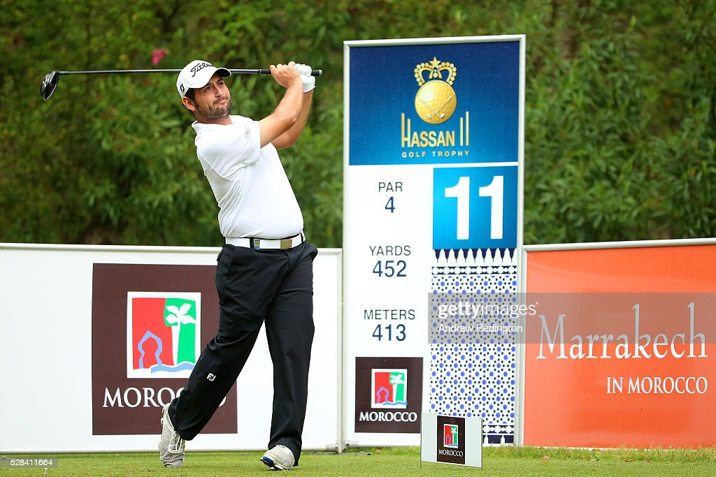 <a gi-track='captionPersonalityLinkClicked' href=/galleries/search?phrase=Alexander+Levy&family=editorial&specificpeople=7291847 ng-click='$event.stopPropagation()'>Alexander Levy</a> of France hits his tee shot on the 11th during the first round of the Trophee Hassan II at Royal Golf Dar Es Salam on May 5, 2016 in Rabat, Morocco.