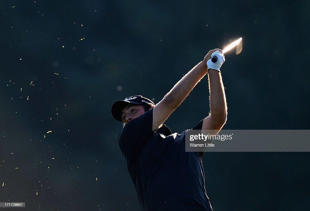 Alexander Levy of France in action during the third round of the BMW International Open at Golfclub Munchen Eichenried on June 22, 2013 in Munich, Germany.