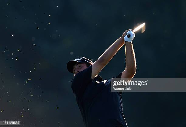 Alexander Levy of France in action during the third round of the BMW International Open at Golfclub Munchen Eichenried on June 22 2013 in Munich...