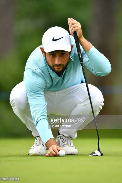 Alexander Levy of France lines up a putt during day four of the Nordea Masters at Barseback Golf Country Club on June 4 2017 in Barsebackshamn Sweden
