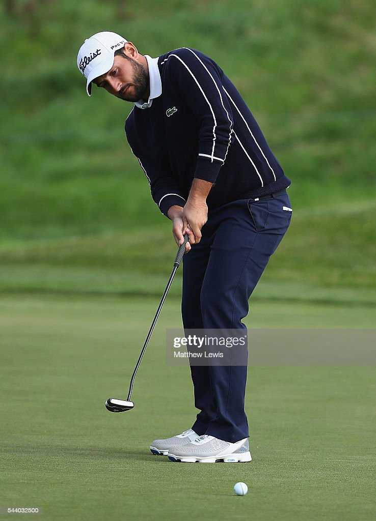 <a gi-track='captionPersonalityLinkClicked' href=/galleries/search?phrase=Alexander+Levy&family=editorial&specificpeople=7291847 ng-click='$event.stopPropagation()'>Alexander Levy</a> of France makes a putt during day two of the 100th Open de France at Le Golf National on July 1, 2016 in Paris, France.