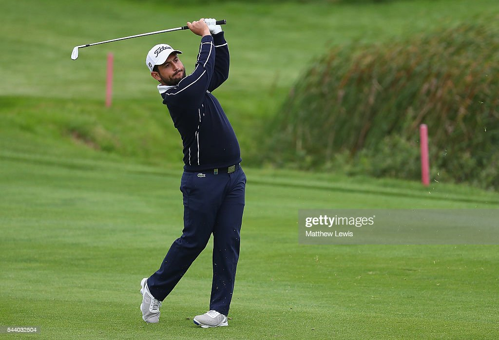 Alexander Levy of France plays a shot from the fairway during day two of the 100th Open de France at Le Golf National on July 1, 2016 in Paris, France.
