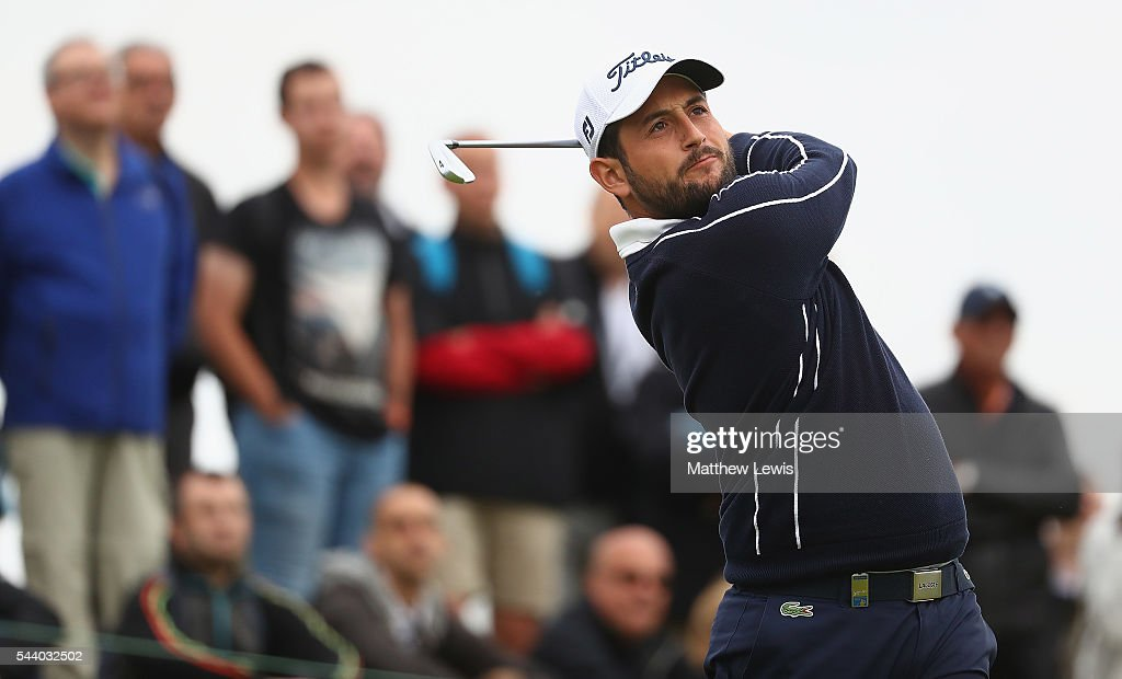<a gi-track='captionPersonalityLinkClicked' href=/galleries/search?phrase=Alexander+Levy&family=editorial&specificpeople=7291847 ng-click='$event.stopPropagation()'>Alexander Levy</a> of France tees off during day two of the 100th Open de France at Le Golf National on July 1, 2016 in Paris, France.