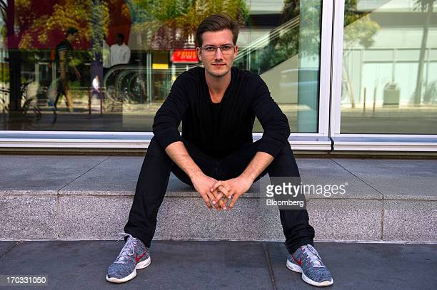 Alexander Ljung chief executive officer and cofounder of SoundCloud Ltd sits for a photograph prior to a Bloomberg West Television interview in San...