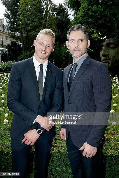 Alexander Ludwig and Eric Bana attend the Bulgari Cocktail Event At Apicius as part of Paris Fashion Week at Apicius on July 8 2014 in Paris France