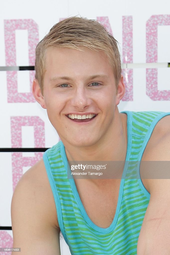 Alexander Ludwig arrives at Victoria's Secret PINK Ultimate Spring Break Dance Party at Raleigh Hotel on March 13, 2013 in Miami Beach, Florida.