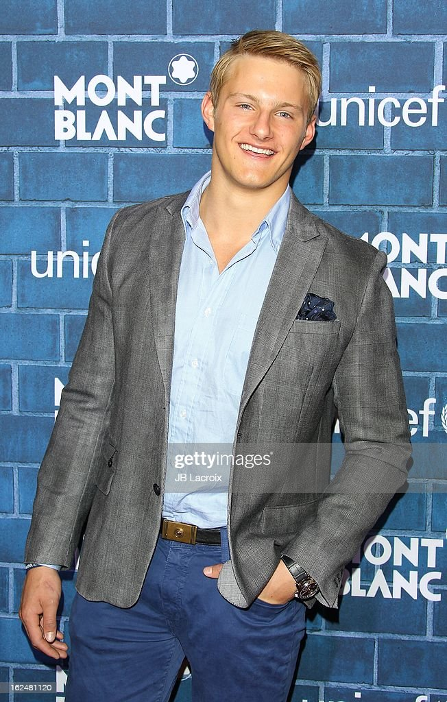 Alexander Ludwig attends the Montblanc and UNICEF pre-Oscar brunch celebrating their limited edition collection at Hotel Bel-Air on February 23, 2013 in Los Angeles, California.