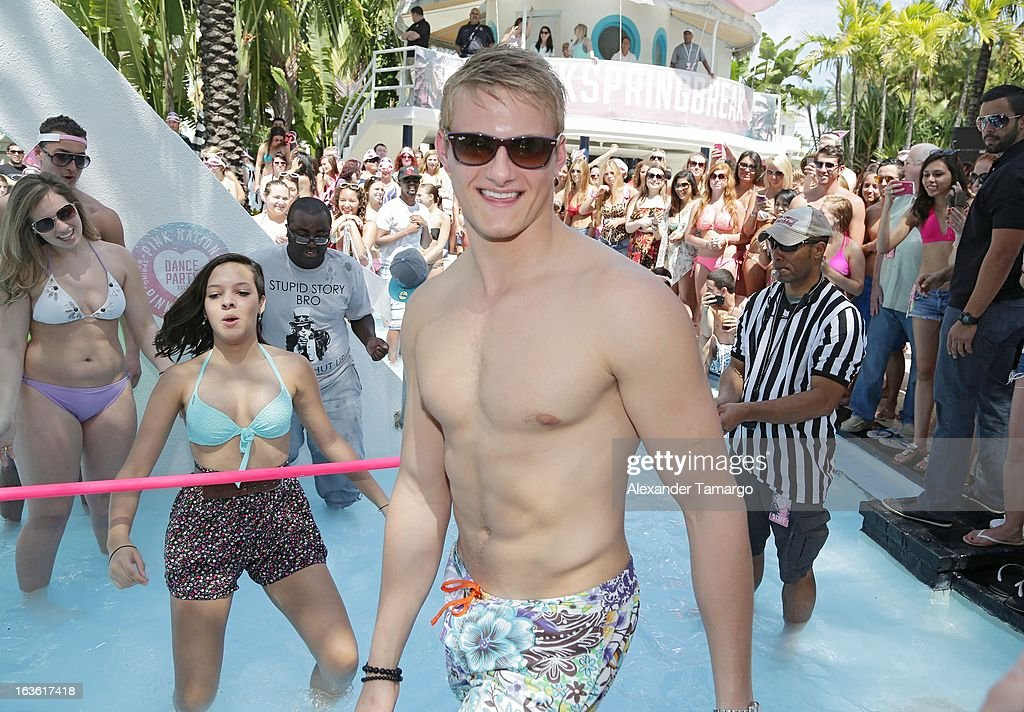 Alexander Ludwig is seen at the Victoria's Secret PINK Ultimate Spring Break Dance Party at Raleigh Hotel on March 13, 2013 in Miami Beach, Florida.
