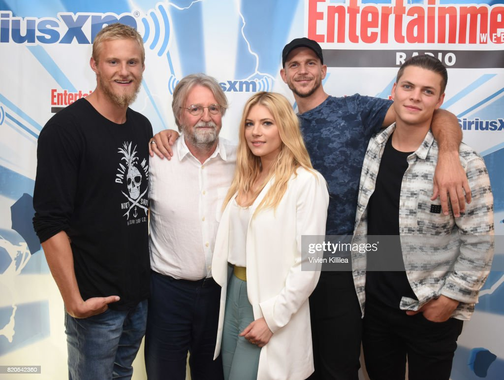 Alexander Ludwig, Michael Hirst, Katheryn Winnick, Gustaf Skarsgard and Alex Hogh attend SiriusXM's Entertainment Weekly Radio Channel Broadcasts From Comic Con 2017 at Hard Rock Hotel San Diego on July 21, 2017 in San Diego, California.