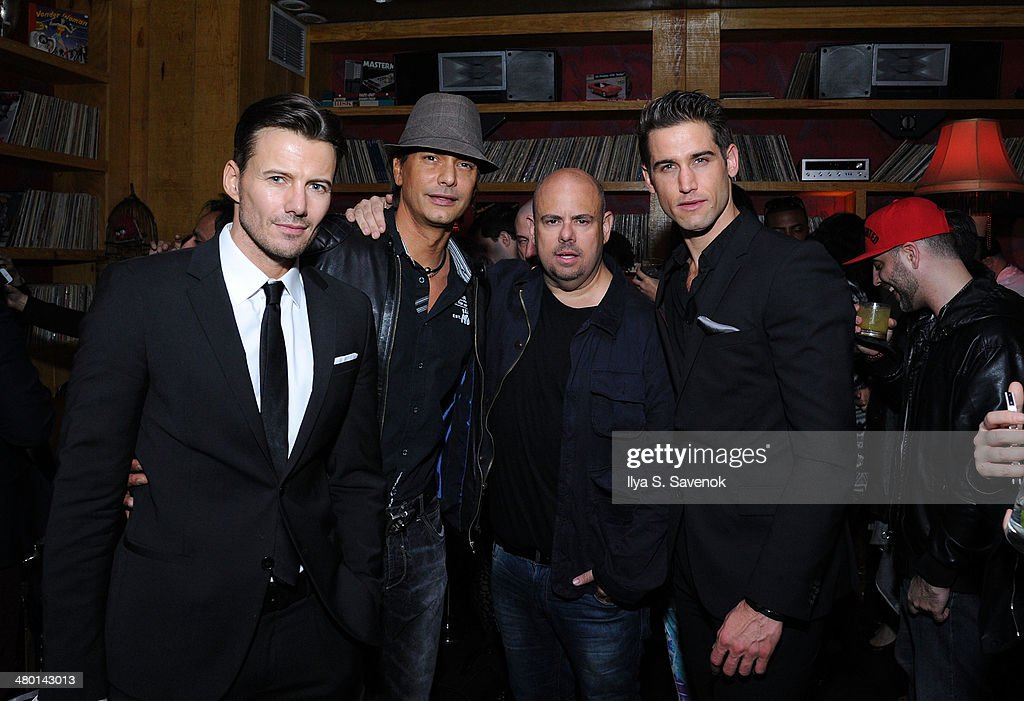 Alexander Lundqvist, Marcus Schenkenberg, Jason Kanner, and Bryce Thompson attend 2nd Supermodel Saturday at No.8 on March 22, 2014 in New York City.