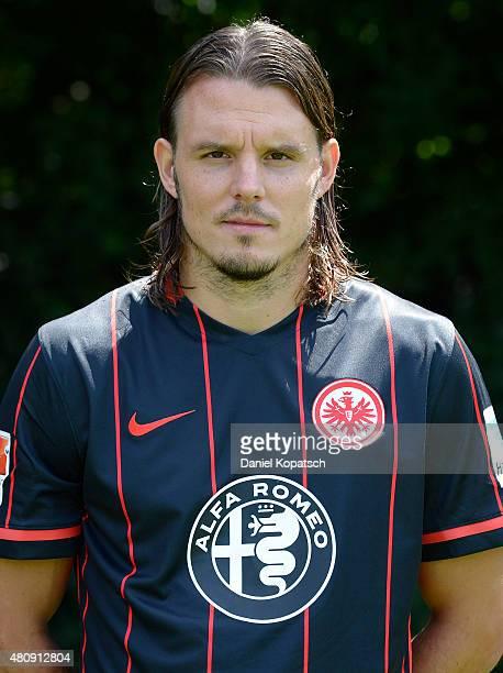 Alexander Maier poses during the Eintracht Frankfurt team presentation on July 15 2015 in Frankfurt am Main Germany