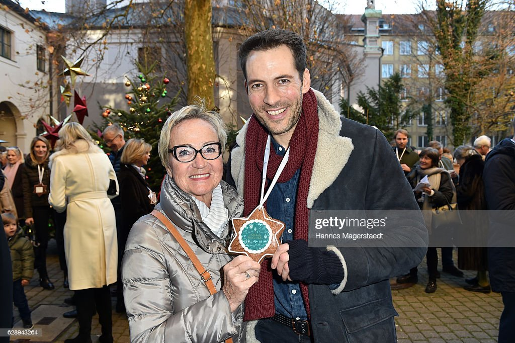 Alexander Mazza and his mother Renate Mazza during the 21th BMW advent charity concert at Jesuitenkirche St. Michael on December 10, 2016 in Munich, Germany.