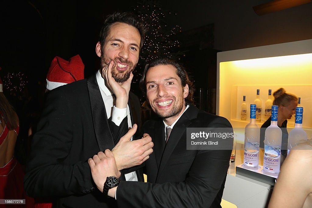Alexander Mazza and Quirin Berg attend the Natascha & Gernot Gruen 'Golden Red Christmas Night' Party on December 19, 2012 in Munich, Germany.