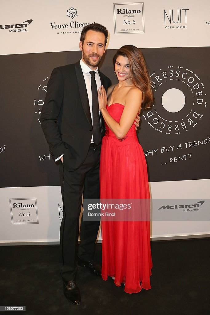 Alexander Mazza and Viola Mazza attend the Natascha & Gernot Gruen 'Golden Red Christmas Night' Party on December 19, 2012 in Munich, Germany.