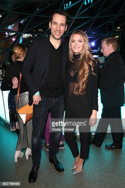 Alexander Mazza and Viviane Geppert during the 'A New York Minute' party hosted by Tiffany Co at BMW World on January 26 2017 in Munich Germany