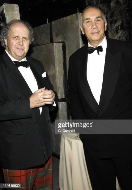 Alexander McCall Smith and Frank Langella during Literacy Partners Hosts Annual Gala 'An Evening of Readings' at Lincoln Center New York State...