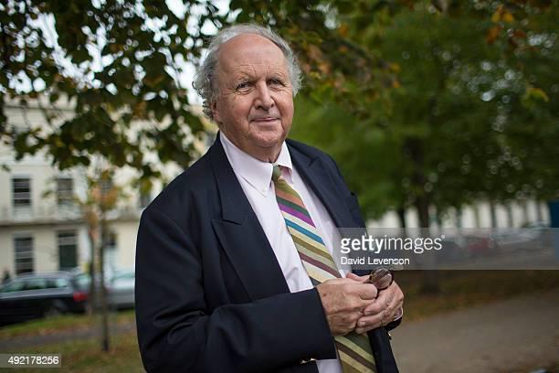 Alexander McCall Smith author at the Cheltenham Literature Festival on October 10 2015 in Cheltenham England
