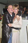 Alexander McQueen and Kate Moss attend Mario Testino's Party hosted by Kate Moss at The Sanderson Hotel on July 20 2001 in London