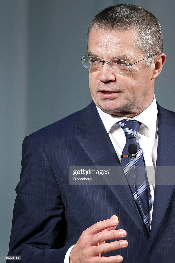 <a gi-track='captionPersonalityLinkClicked' href=/galleries/search?phrase=Alexander+Medvedev&family=editorial&specificpeople=671477 ng-click='$event.stopPropagation()'>Alexander Medvedev</a>, deputy chairman of the management committee at OAO Gazprom, speaks at the 13th Nikkei Global Management Forum in Tokyo, Japan, on Tuesday, Oct. 25, 2011. The 2 day forum is organized by Nikkei Inc., IMD and Japan Center for Economic Research. Photographer: Kiyoshi Ota/Bloomberg via Getty Images