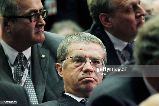 Alexander Medvedev Deputy Chief Executive Officer of OAO Gazprom attends the St Petersburg International Economic Forum on June 17 2011 in St...