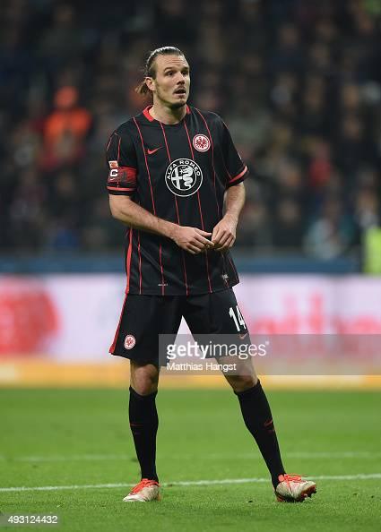 Alexander Meier of Frankfurt in action during the Bundesliga match between Eintracht Frankfurt and Borussia Moenchengladbach at CommerzbankArena on...