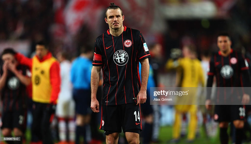 <a gi-track='captionPersonalityLinkClicked' href=/galleries/search?phrase=Alexander+Meier&family=editorial&specificpeople=615512 ng-click='$event.stopPropagation()'>Alexander Meier</a> of Frankfurt reacts after the Bundesliga match between 1. FC Koeln and Eintracht Frankfurt at RheinEnergieStadion on February 13, 2016 in Cologne, Germany.