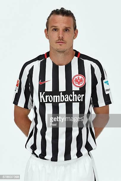 Alexander Meier poses during the Eintracht Frankfurt Team Presentation on July 21 2016 in Frankfurt am Main Germany