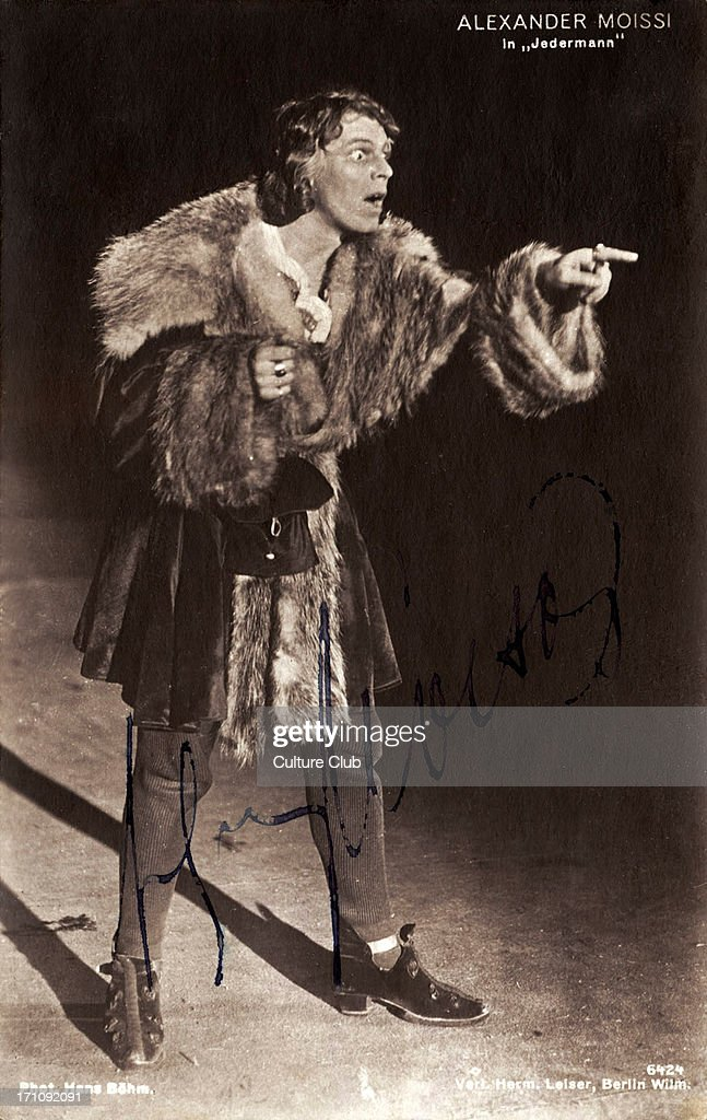Alexander MOISSI in Salzburger Festspiele / Salzburg Festival production of 'Everyman' Italian born German actor and singer 18791935