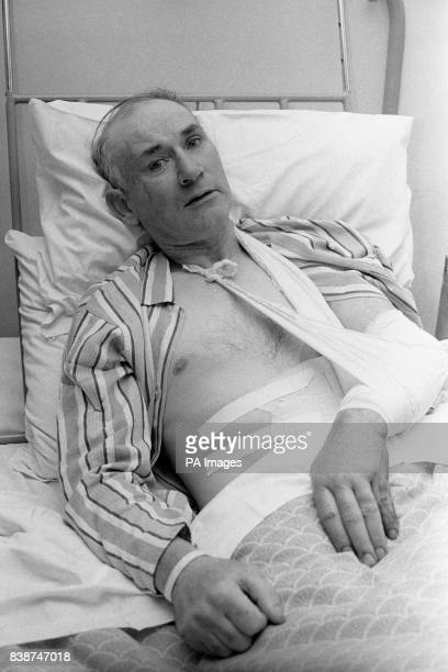 Alexander Nash father of 13 pictured in his hospital bed in Londonderry City Hospital where he was one of the people injured in the shootings at the...