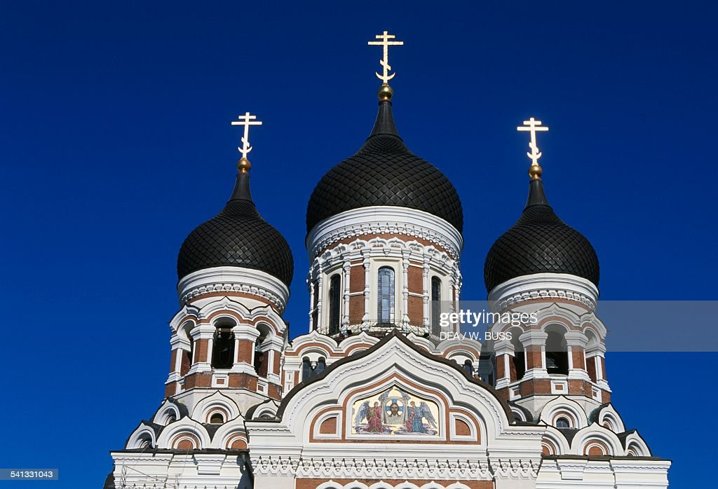 Alexander Nevski Russian Orthodox cathedral Toompea Tallinn old town Estonia