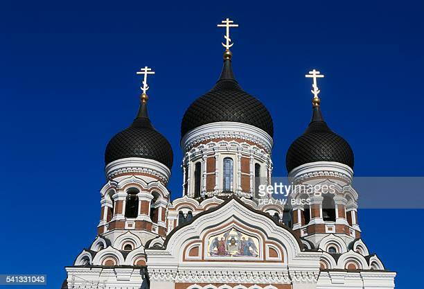 Alexander Nevski Russian Orthodox cathedral Toompea Tallinn old town Estonia